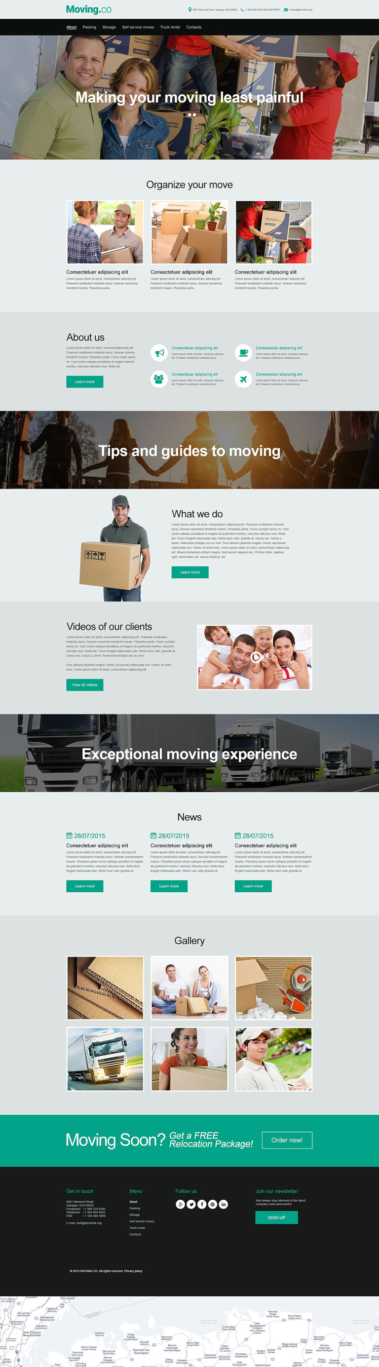 Moving Company Muse Template New Screenshots BIG