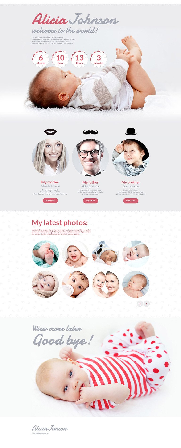 Newborn Landing Page Template New Screenshots BIG