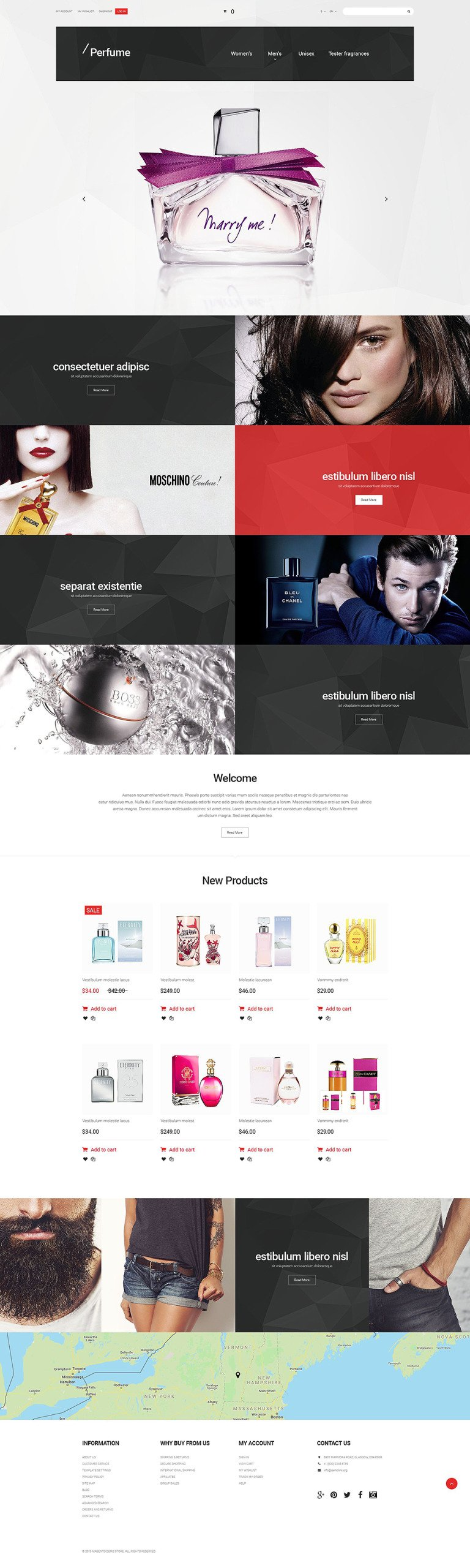 Perfume Magento Theme New Screenshots BIG