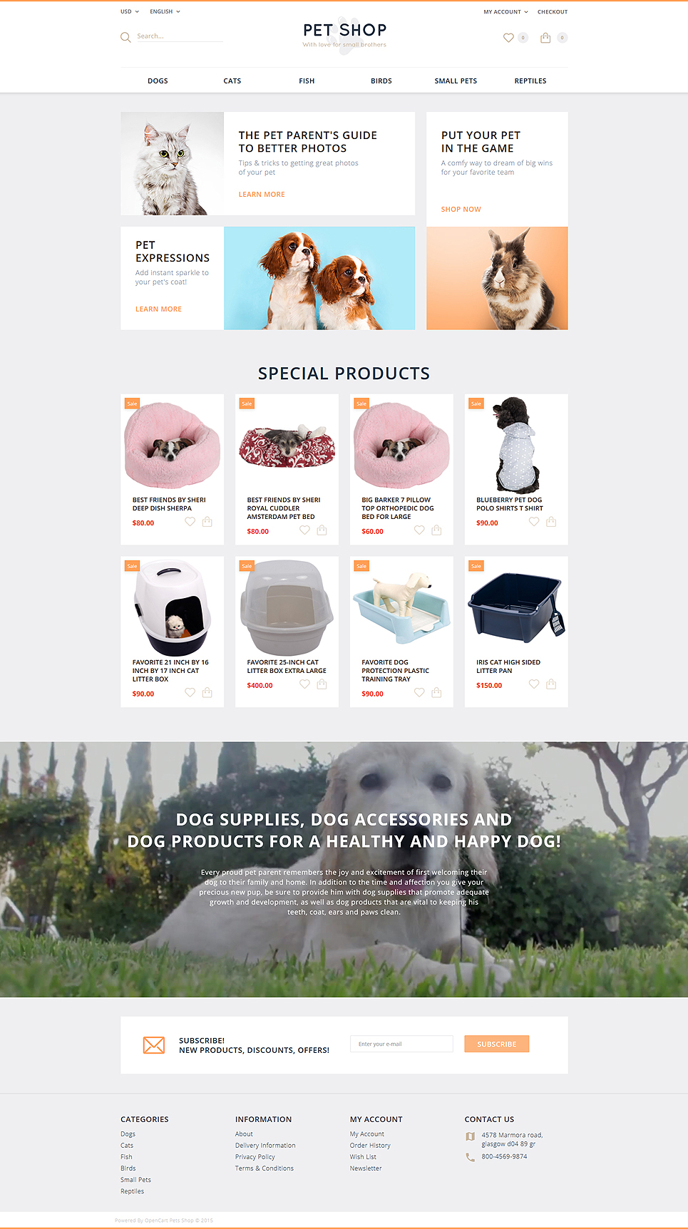 Pet Shop OpenCart Template Nulled ~ WORDPRESS THEMES nulled