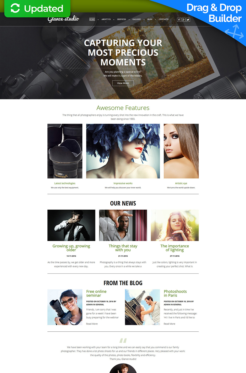 Photo Studio Responsive Photo Gallery Template 55655
