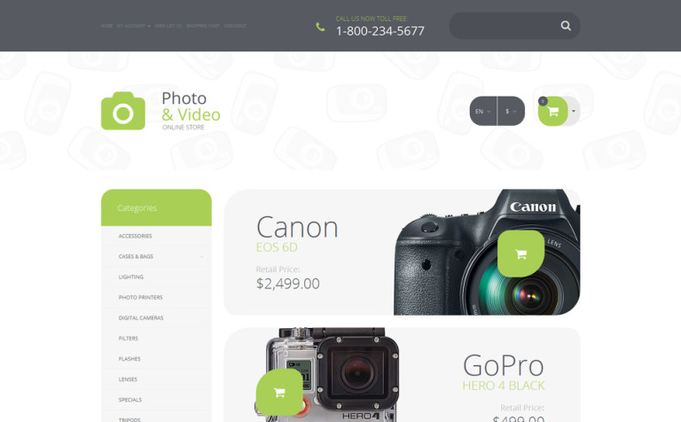 Professional Photo Lab OpenCart Theme