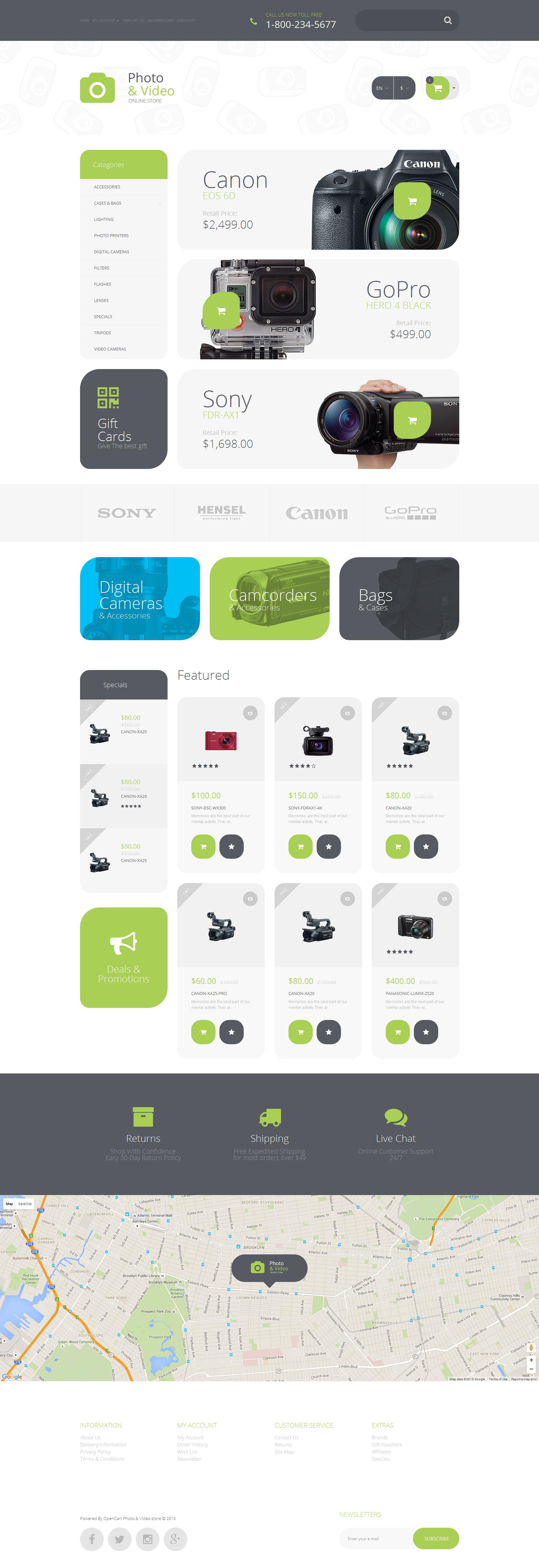 Photo Supplies OpenCart Template - screenshot
