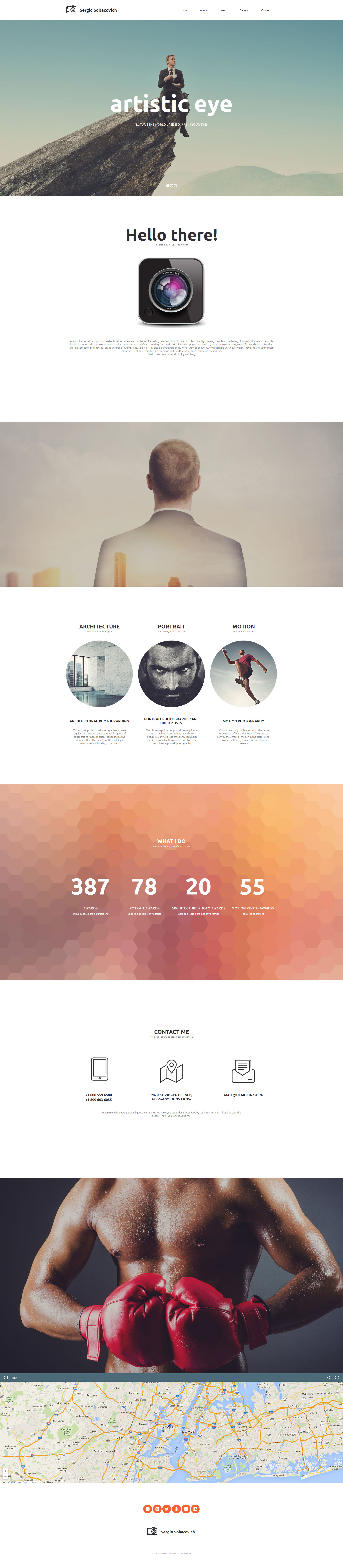 Photographer Portfolio Moto CMS HTML Template - screenshot