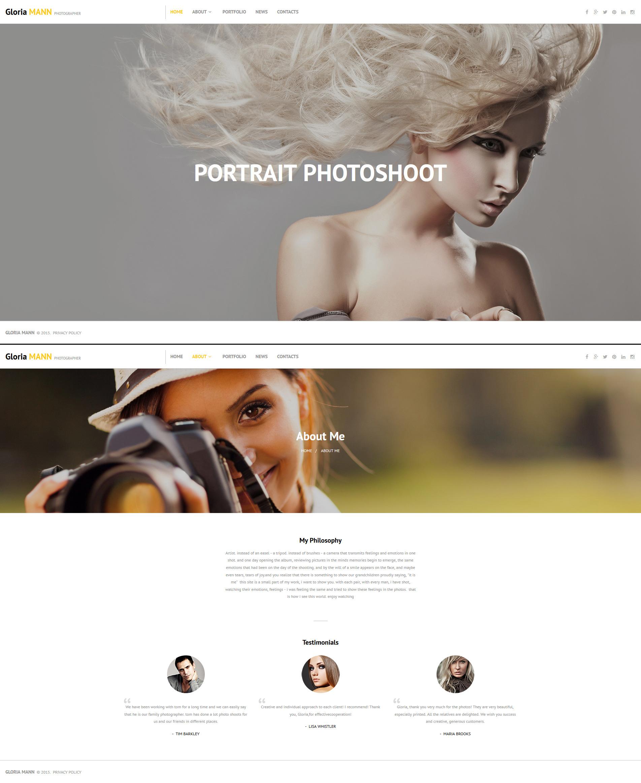 Photographer Portfolio Responsive Photo Gallery Template