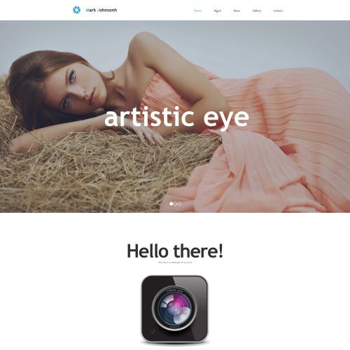 Photographer Portfolio - Responsive Photo Gallery Template