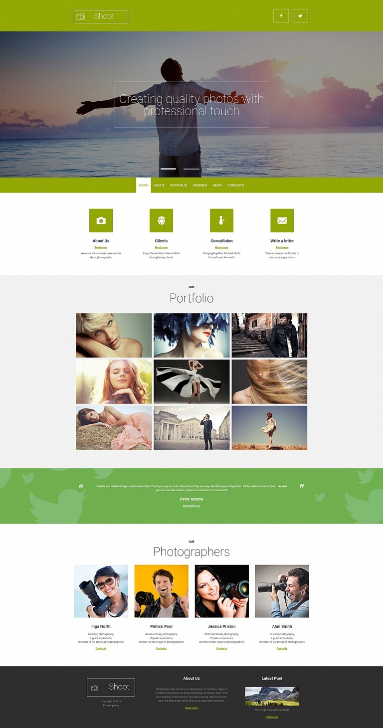 Photographer Portfolio Responsive Photo Gallery Template New Screenshots BIG