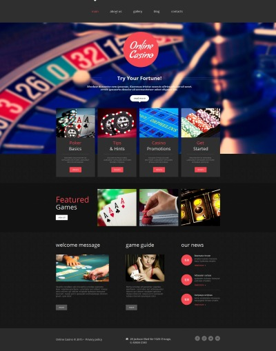 Plantilla Moto CMS HTML #55668 para Sitio de  para Sitio de Casinos online
