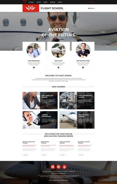 Plantilla Moto CMS HTML #55672 para Sitio de  para Sitio de Escuelas de pilotos