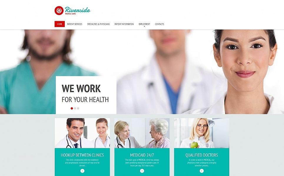 Prémium Egészségügy  Moto CMS HTML sablon New Screenshots BIG