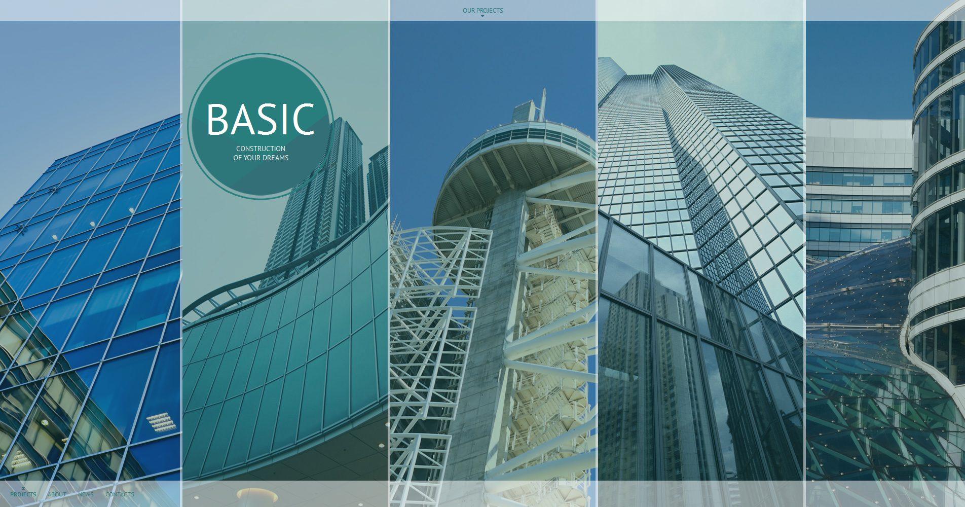 Prémium Építőipari vállalatok témakörű Moto CMS HTML sablon 55661