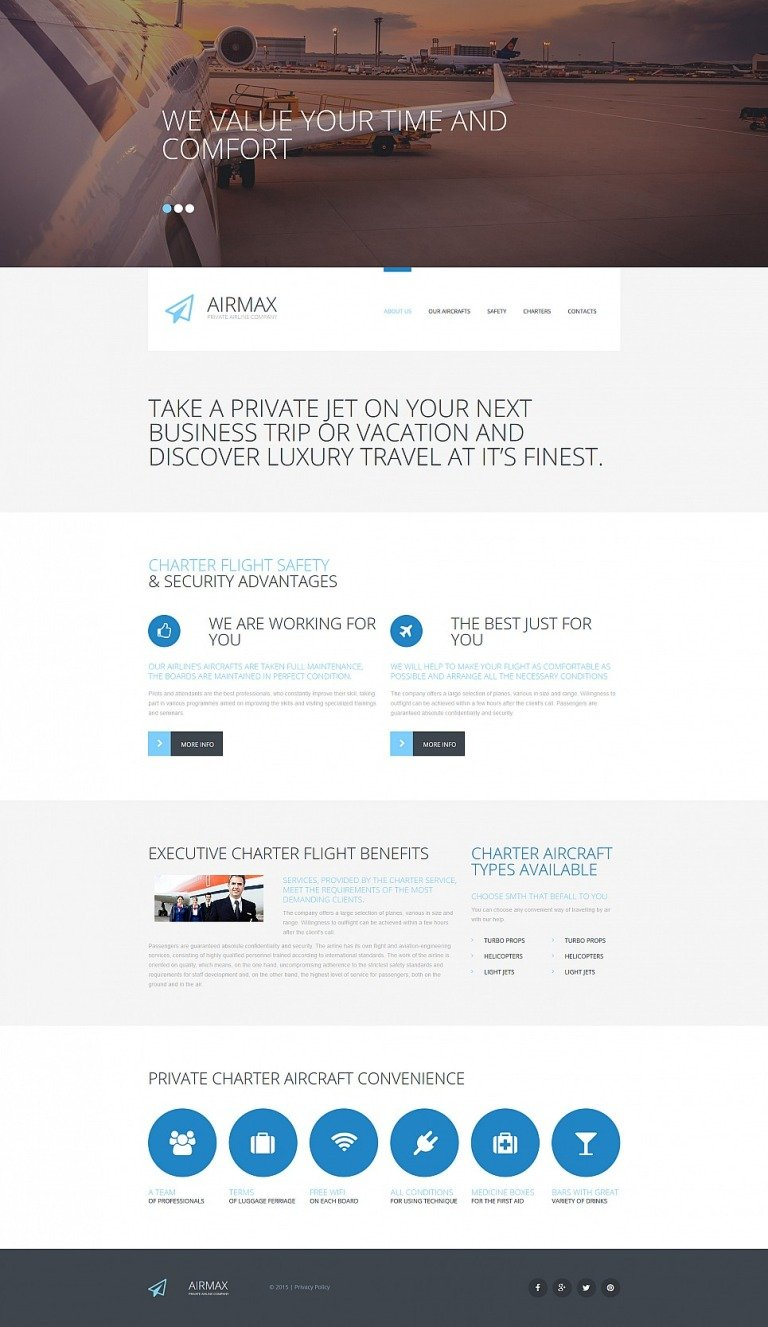 Private Airline Responsive Moto CMS 3 Template New Screenshots BIG