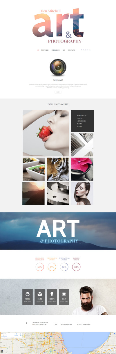 Art & Photography Responsive Moto CMS 3 Template