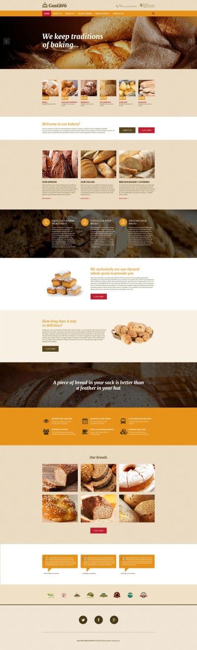 Responsywny szablon strony www #55679 na temat: piekarnia