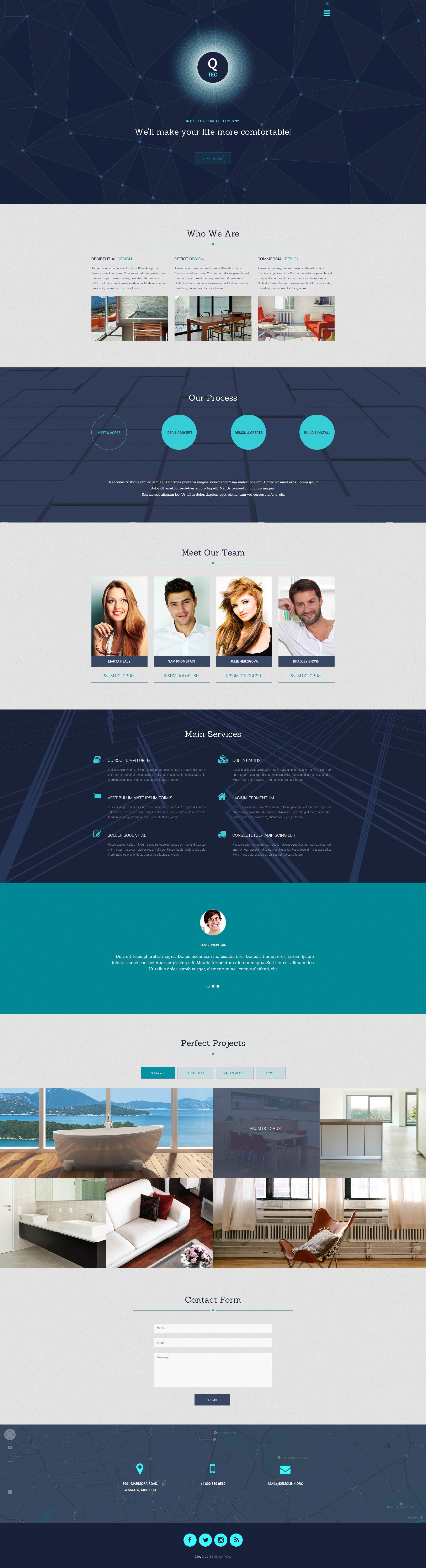 Responsywny szablon strony www Interior  Furniture #55614 - zrzut ekranu