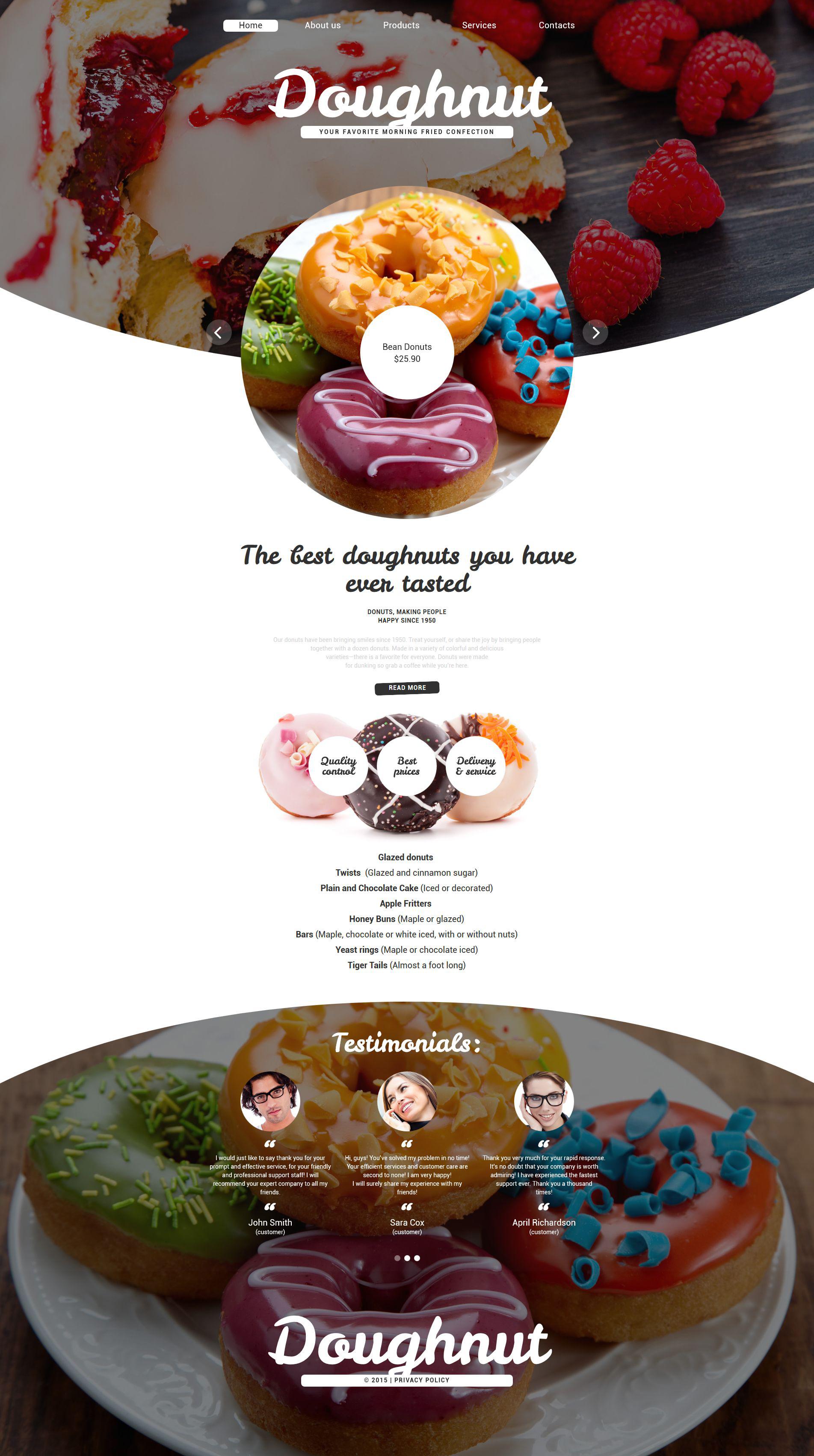 """Responzivní Šablona webových stránek """"Confectionary"""" #55613"""