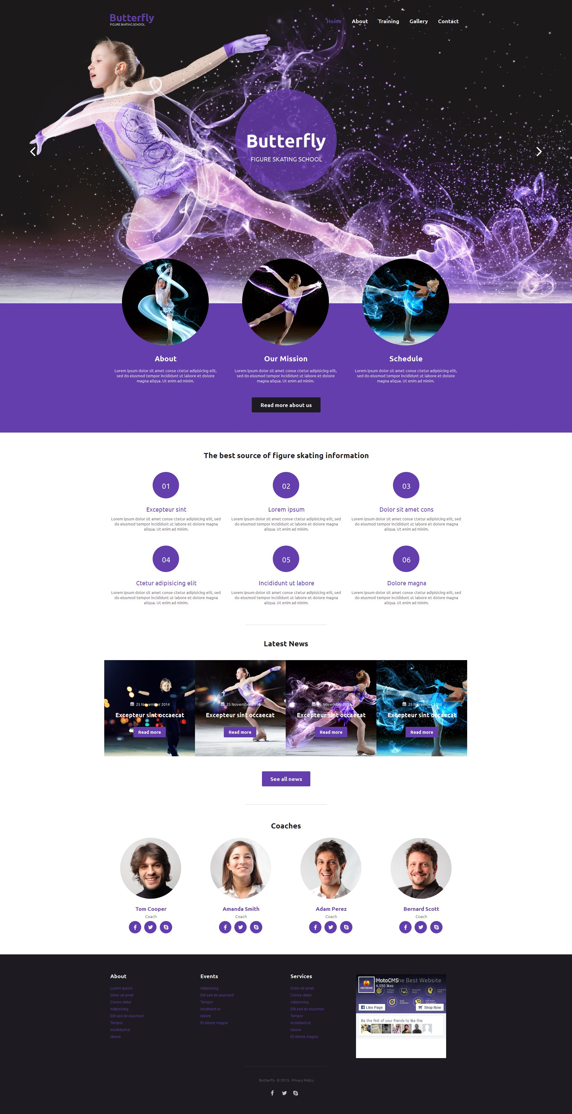 Skating Moto CMS HTML Template