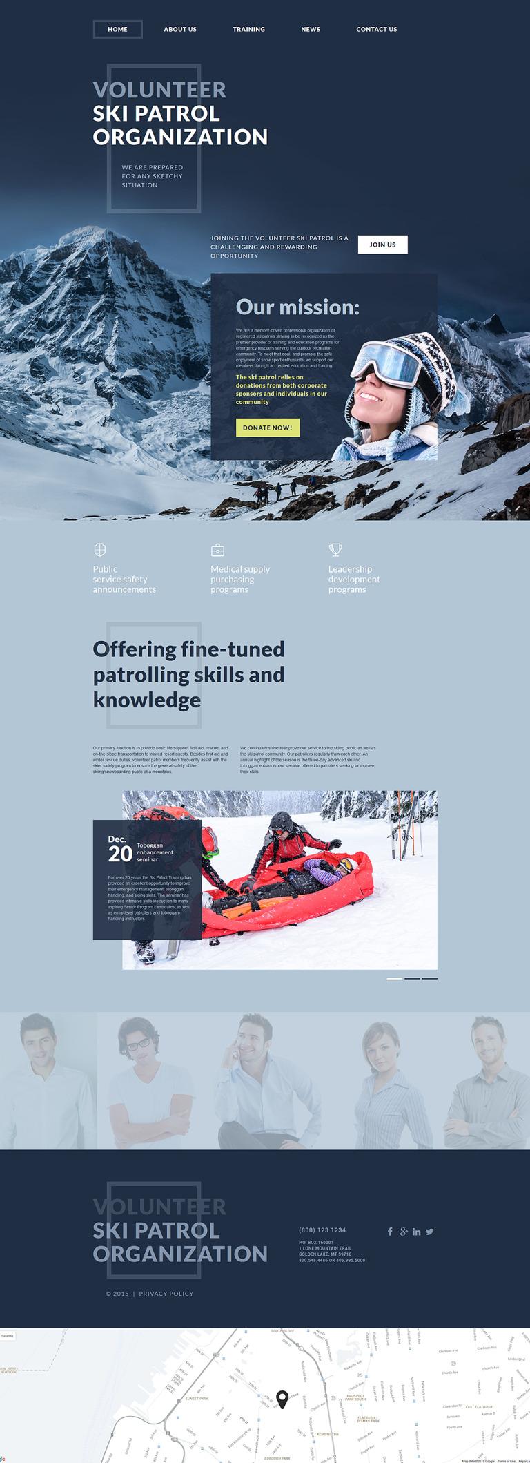 Ski Patrol Website Template New Screenshots BIG