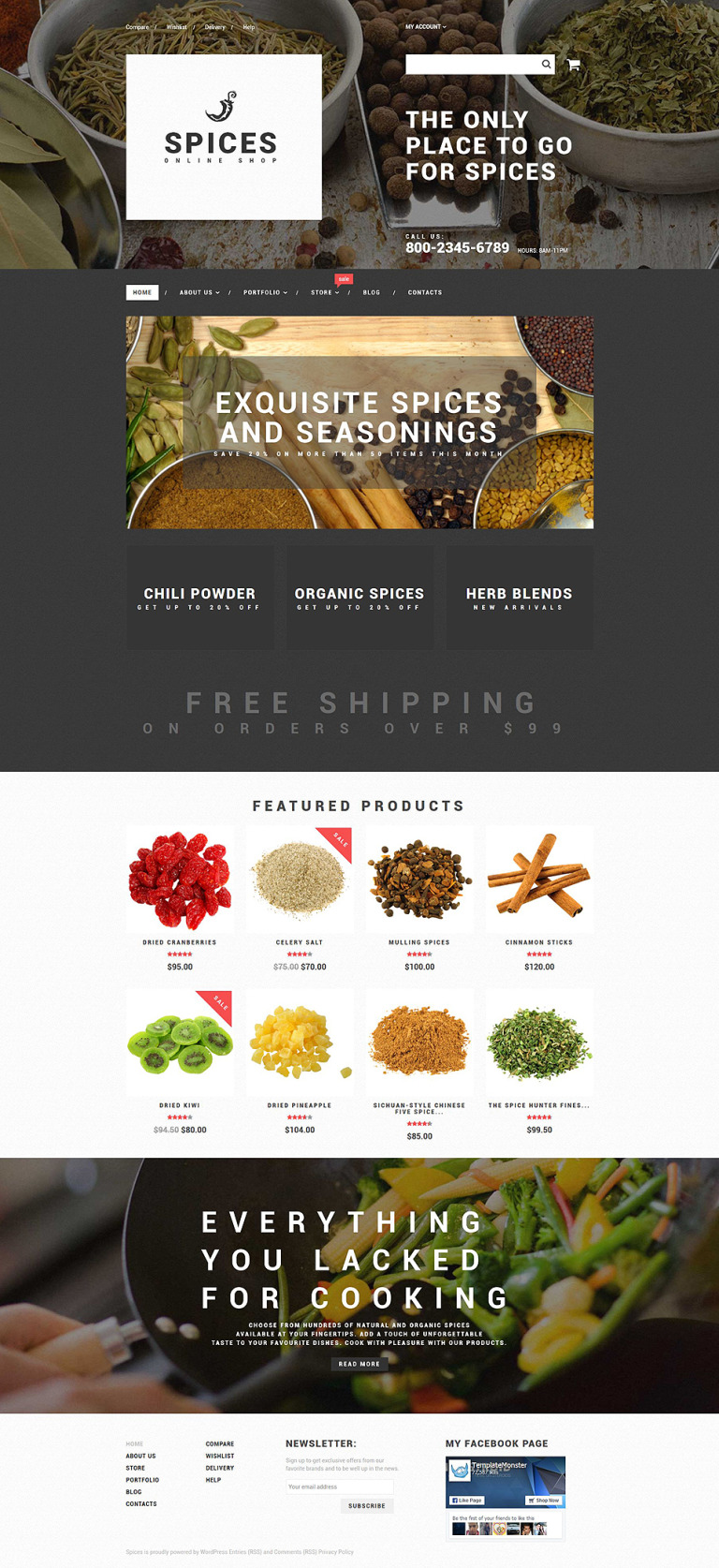 Spice Shop WooCommerce Theme New Screenshots BIG