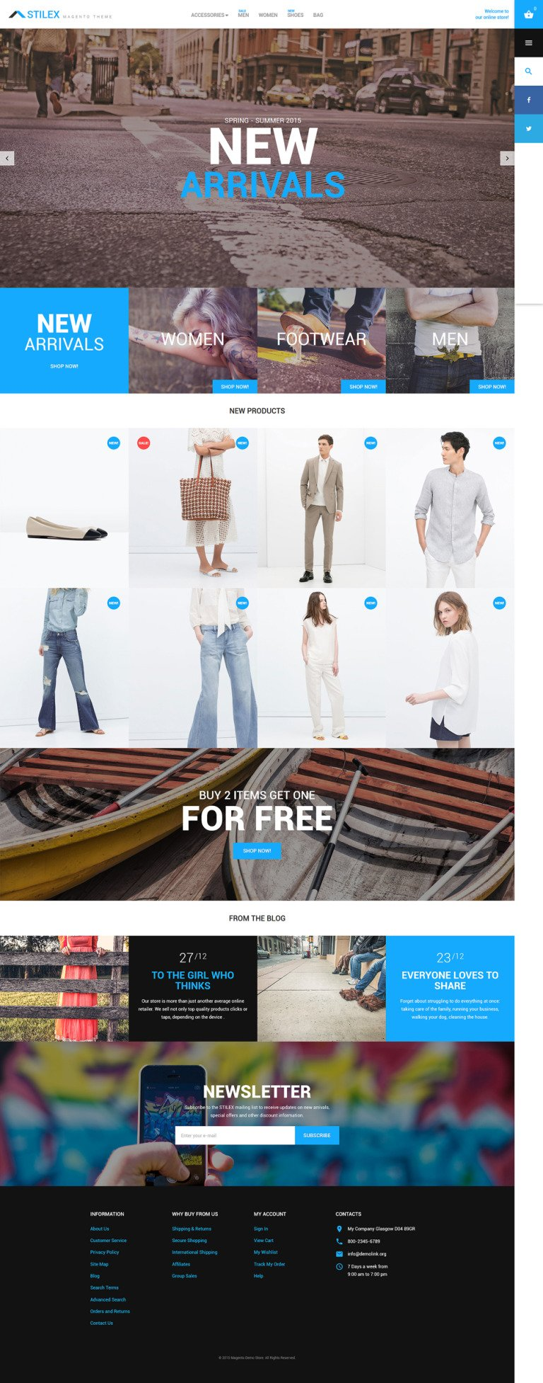Stilex Magento Theme New Screenshots BIG