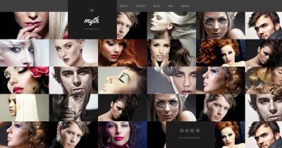 Szablon Moto CMS HTML #55664 na temat: salon fryzjerski