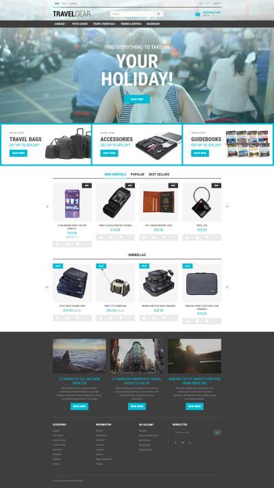 Responsive Tema De PrestaShop #55685 para Sitio de  para Tienda de Accesorios de Viajes
