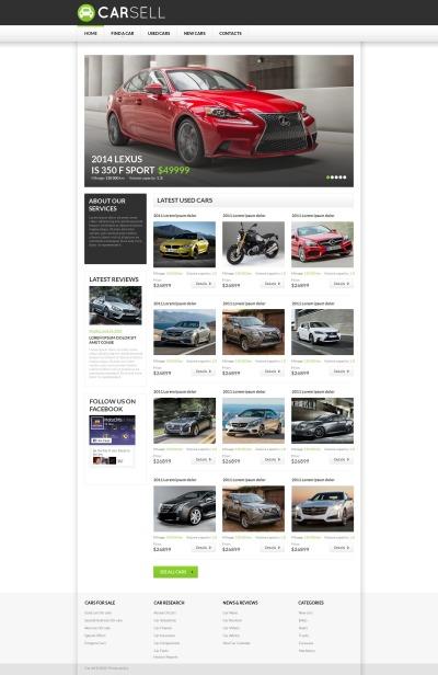 Car Rental Tema Moto CMS HTML