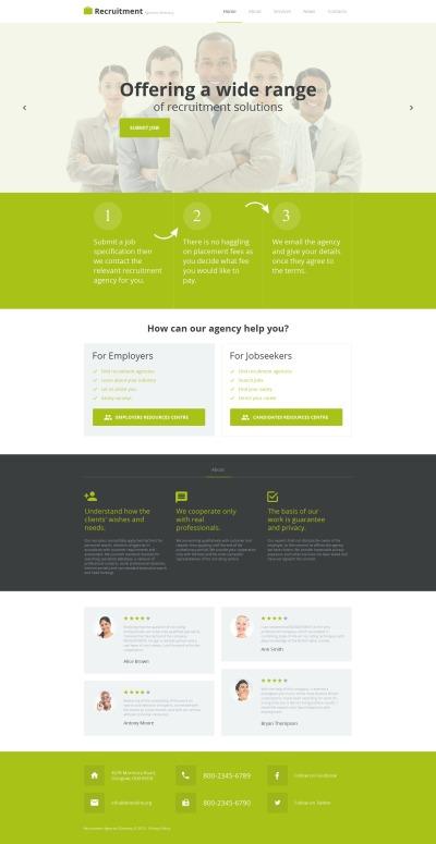 Job Portal Tema Moto CMS HTML