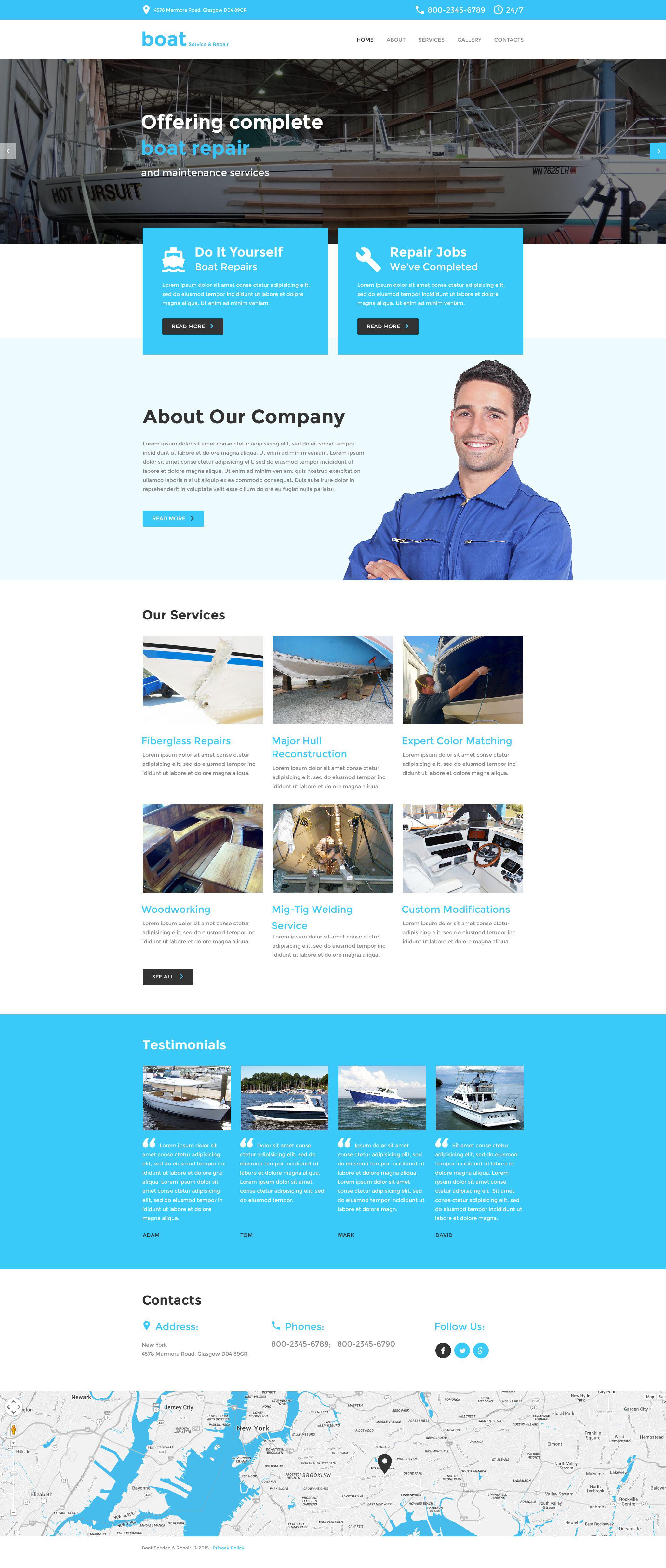 Template Siti Web Responsive #55600 per Un Sito di Yachting