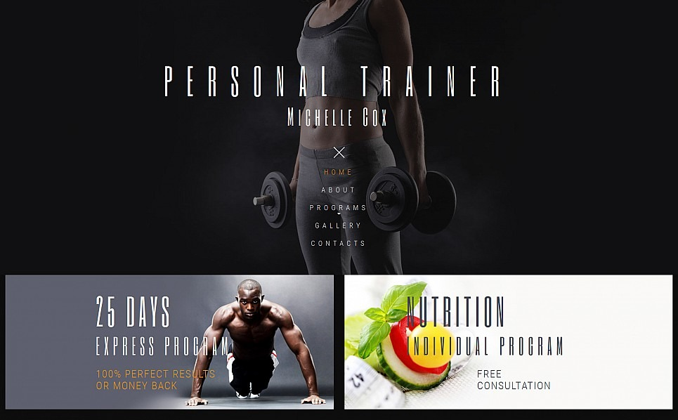 Templates Moto CMS 3 Flexível para Sites de Fitness №55643 New Screenshots BIG