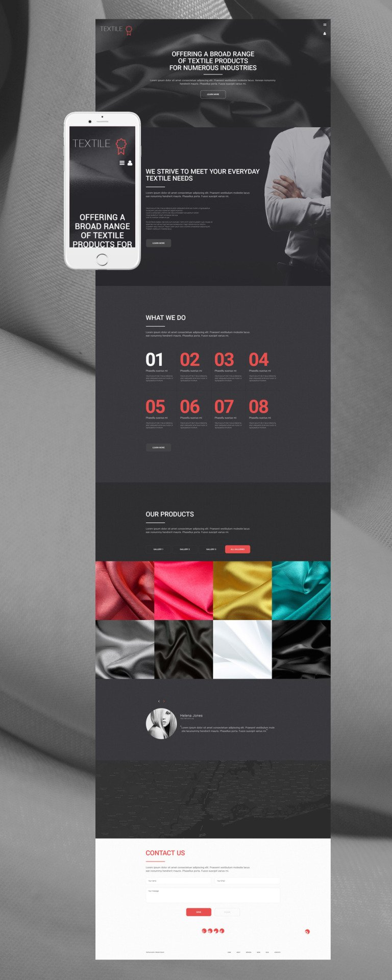 Textile WordPress Theme New Screenshots BIG