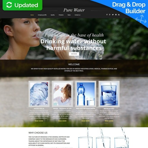 Pure Water - MotoCMS 3 Template based on Bootstrap