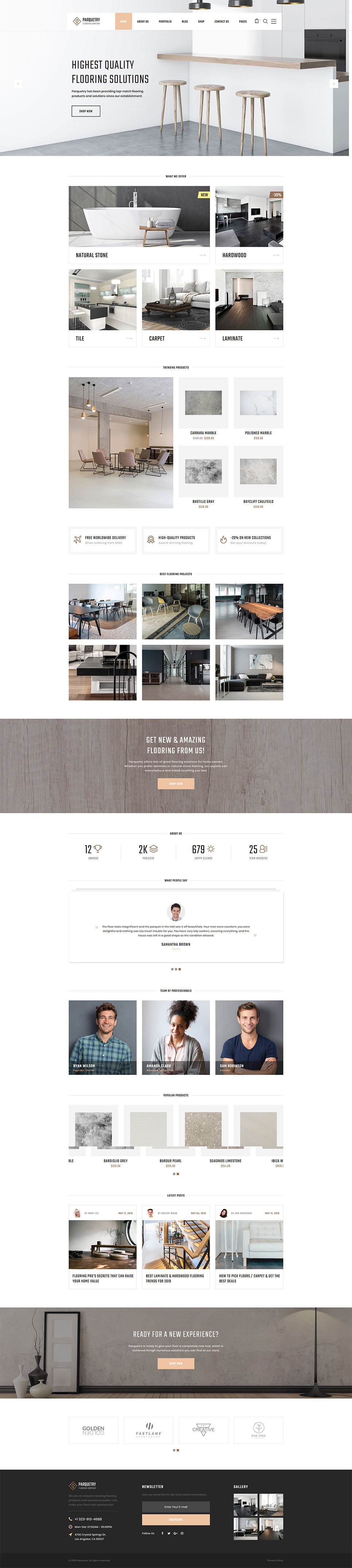 Wooden Flooring Website Template New Screenshots BIG