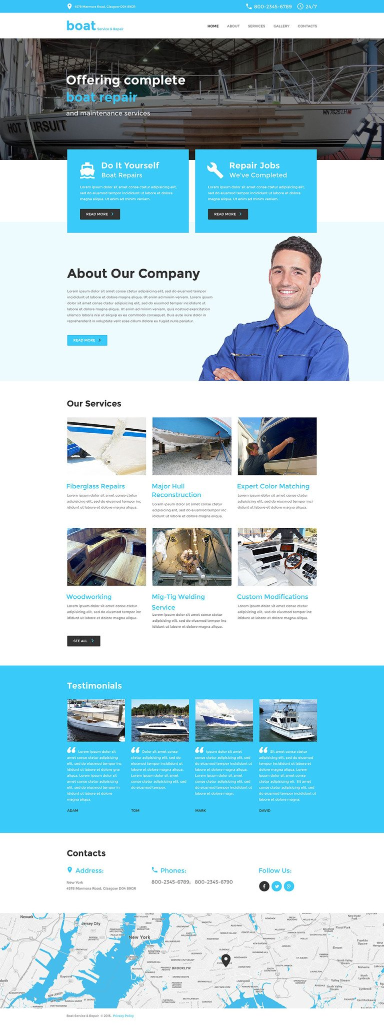 Yachting Responsive Website Template New Screenshots BIG
