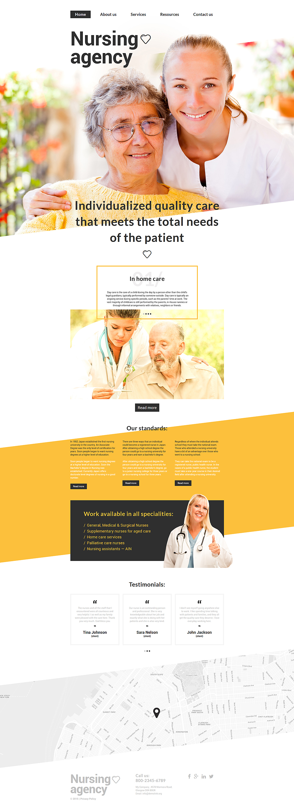 Nursing Agency template illustration image