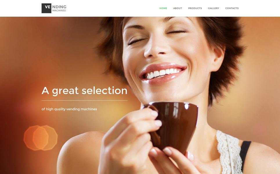 Responzivní Šablona webových stránek na téma Prodejní automaty New Screenshots BIG