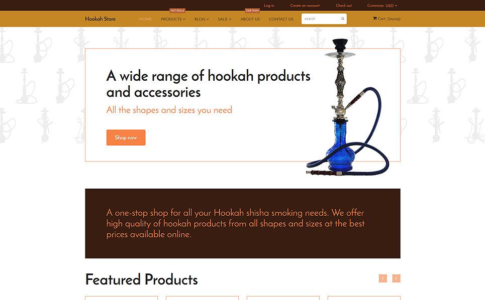 Responzivní Shopify motiv na téma Tabák New Screenshots BIG