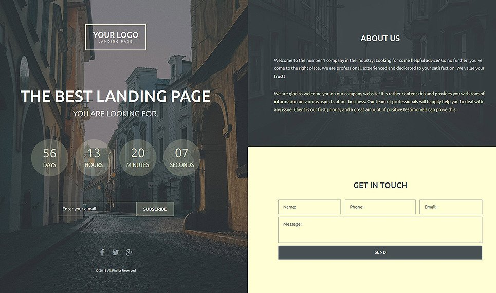 Responsive Landingspagina Template over Business & Diensten New Screenshots BIG