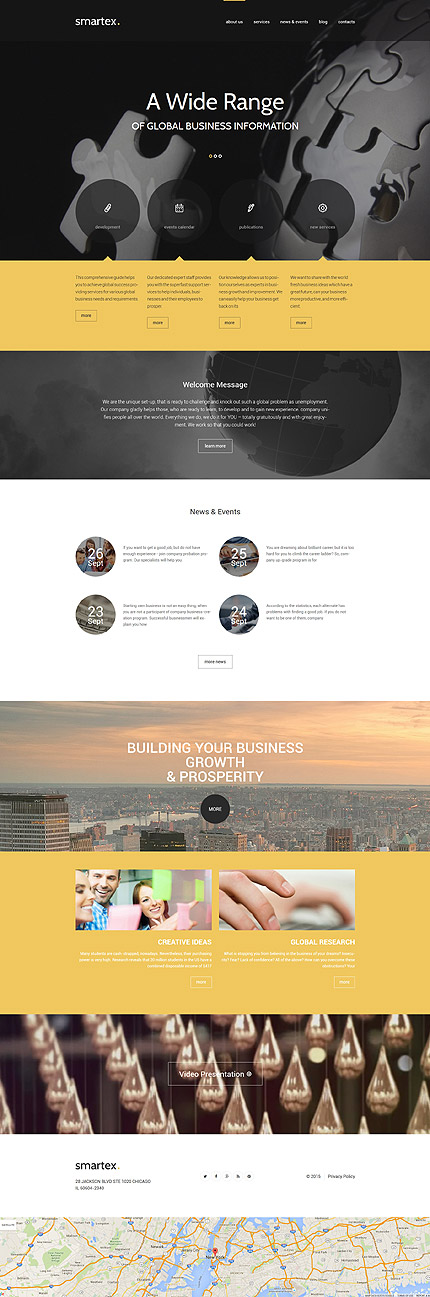 WordPress Theme/Template 55723 Main Page Screenshot