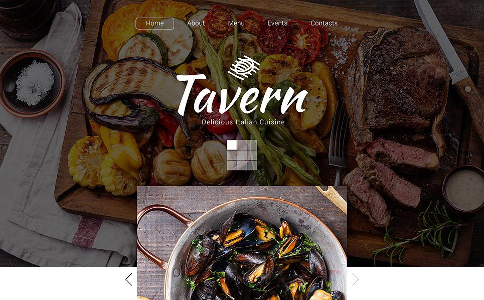 Reszponzív Olasz éttermek Weboldal sablon New Screenshots BIG