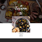 Cafe & Restaurant Website  Template 55724