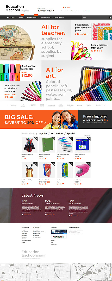 ADOBE Photoshop Template 55737 Home Page Screenshot