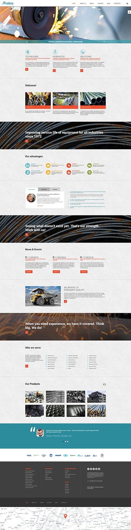 Joomla Theme/Template 55746 Main Page Screenshot