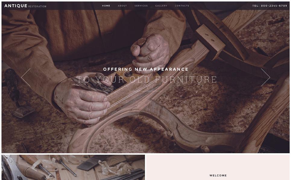 Reszponzív Antikvárium Weboldal sablon New Screenshots BIG