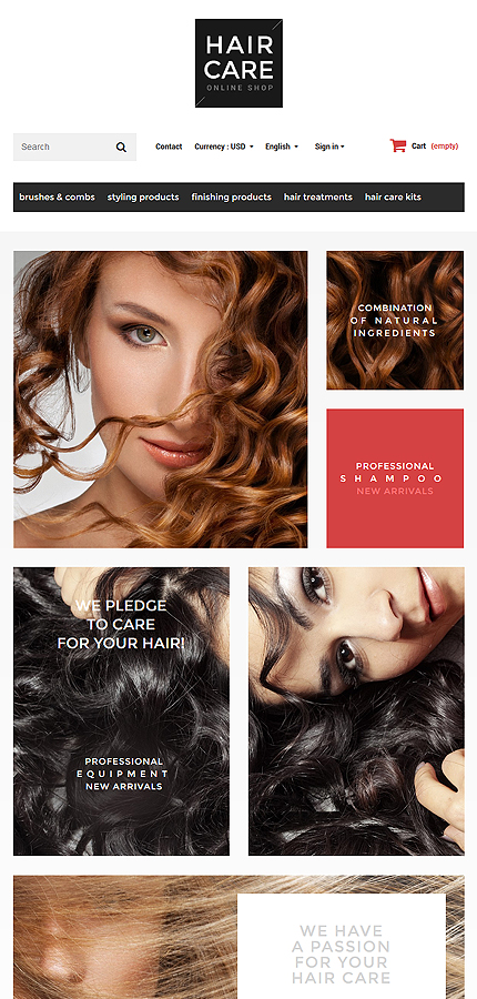 ADOBE Photoshop Template 55757 Home Page Screenshot