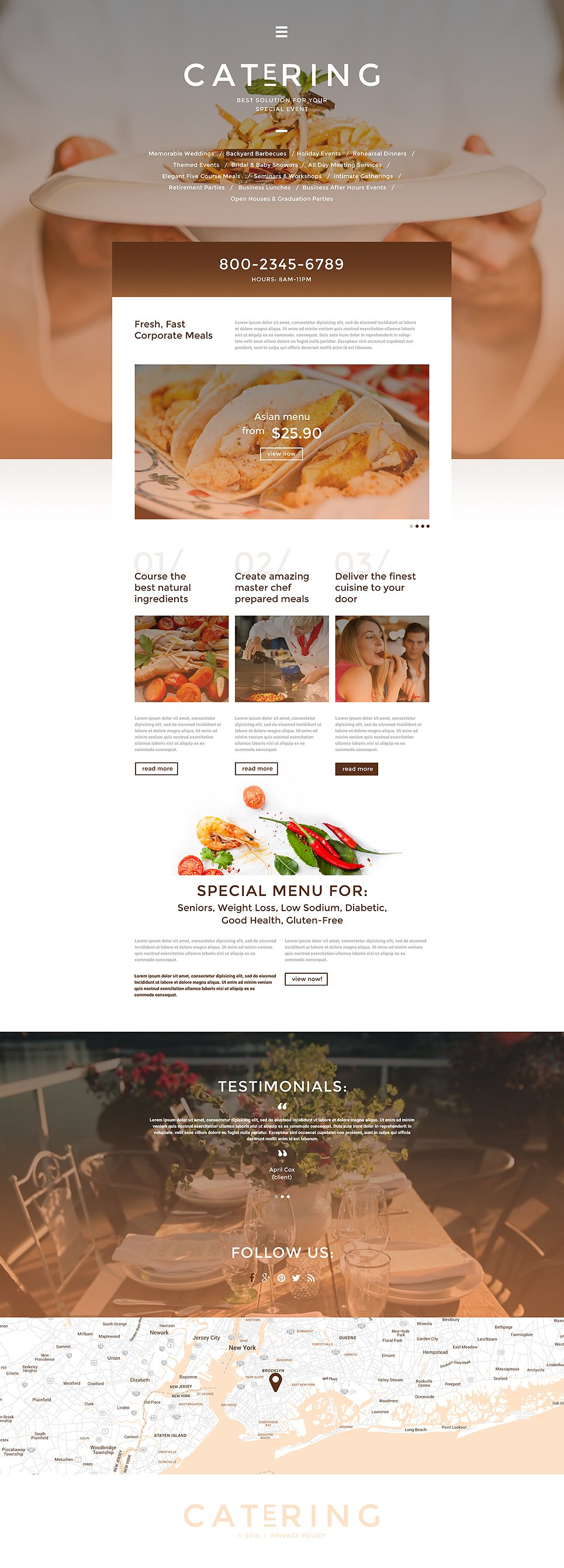 Catering Solutions template illustration image