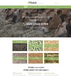 Agriculture Website  Template 55776