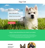 Animals & Pets Landing Page  Template 55777