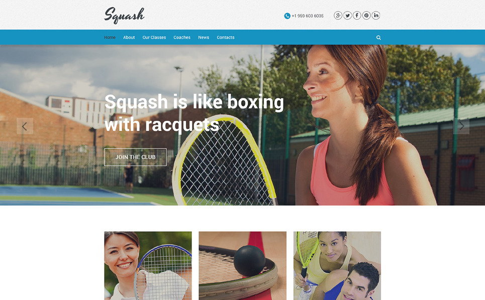 Template Web Flexível para Sites de Squash №55798 New Screenshots BIG