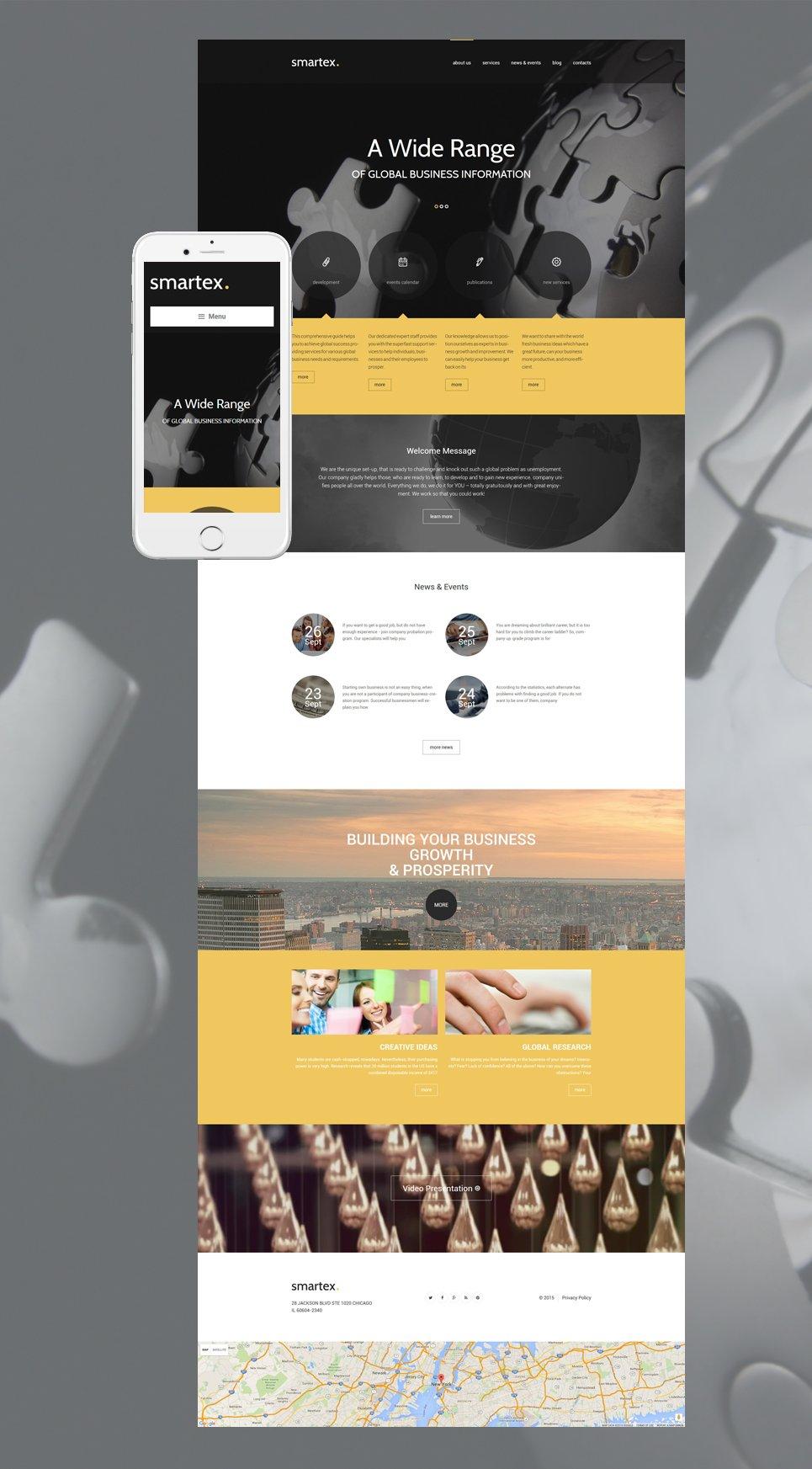 Адаптивный шаблон сайта на тему бизнес и услуги #55723
